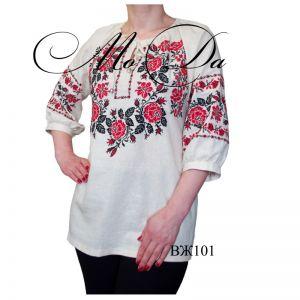 Женские вышиванки Рубашка с вышивкой крестиком ВЖ101