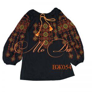 Женские вышиванки Рубашка с вышивкой крестиком ВЖ054