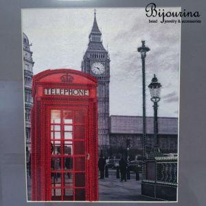 Декор для дома Домашнй декор. Вышивка бисером в английском стиле. Фотография города Лондона