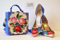 Ексклюзивні туфлі ручної роботи вишиті бісером «Elegant flowers»