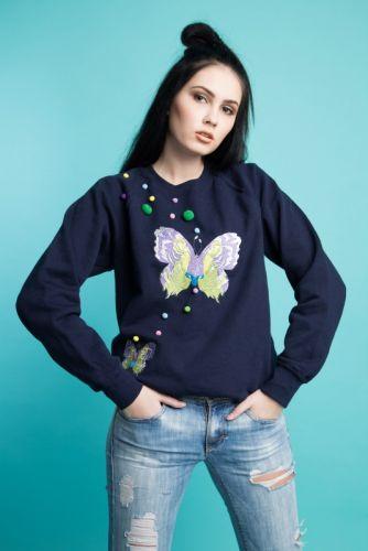 """Світшот з вишивкою """"Butterfly"""""""