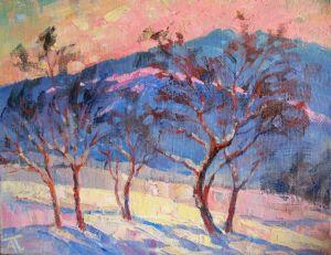 Картини маслом Рожевий вечір