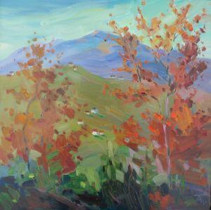 Нарисованные картины Осеннее настроение