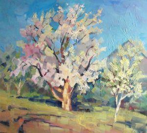 Мальовані картини Цвіте черешня