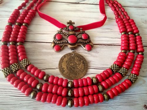 Ожерелье с дукачом Очаровательная панна
