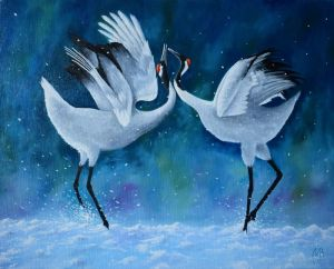 Нарисованные картины White dance
