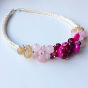 Ожерелье из кварца Запах роз