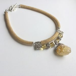 Ожерелье из цитрина Лимонный Сорбет