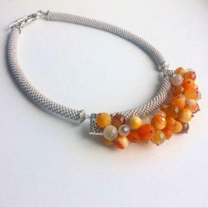 Ожерелье из бисера Абрикосовый джем