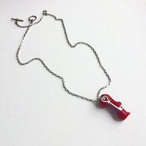 Кулон коралл  Ключ от сердца
