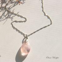 """Срібний кулон з рожевим кварцем """"Rose Quartz"""""""