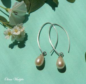 """""""Leya"""" Срібні сережки з натуральними перлами"""