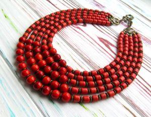 Ожерелье из коралла Ожерелье из керамики