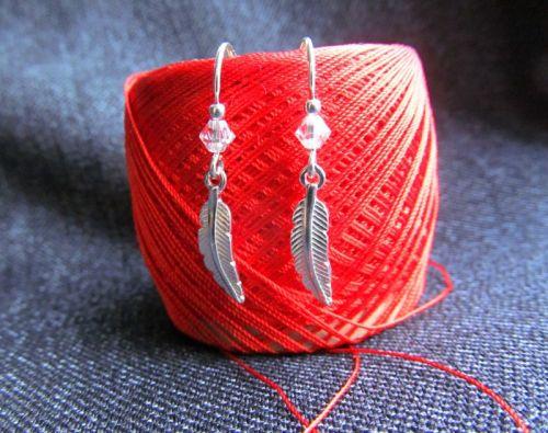 Серьги-перышки (серебряные)