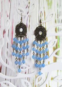 Блакитні сережки Сережки