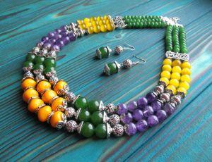 "Beaded necklaces Намисто ""Весна"""