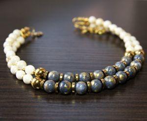 Ожерелье из нефрита Новогоднее