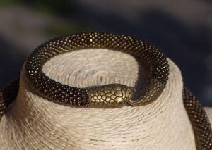Браслети з бісеру Браслет Snake (бронза)