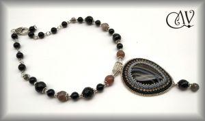 Ожерелье ручной работы Агатовый чокер