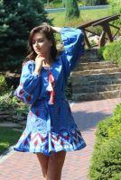 Вишита сукня з геометричною вишивкою