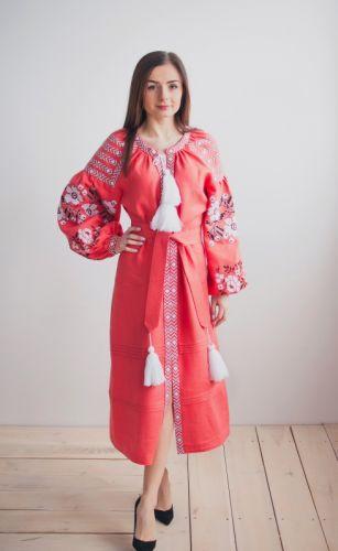 Купити Вишита сукня Корал VYSP9 на UkrainArt aec99e6a49103