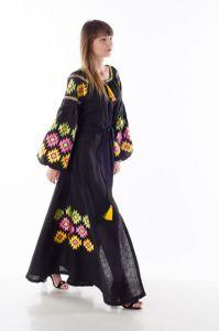 """Чорна сукня з вишивкою Сукня """"Геометрія"""""""