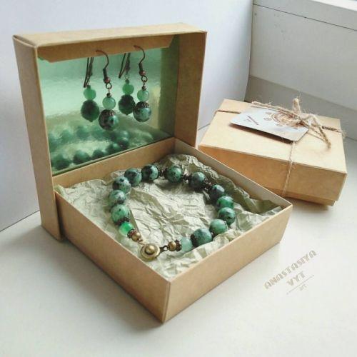 Подарочный набор «Эльфийка»: серьги и браслет