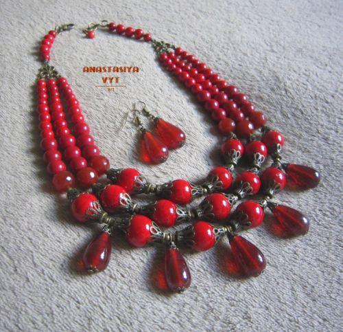 """Ожерелье и серьги """"С каплями"""""""
