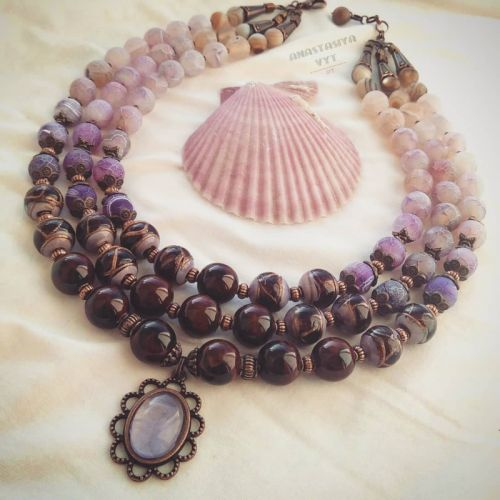 Ожерелье «Аметистовая капля»