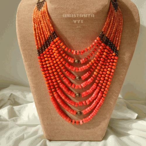 Ожерелье «Бусы на завязки»