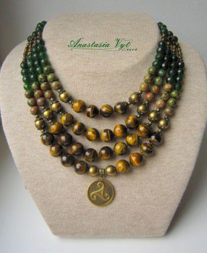 """Ожерелье """"Зеленая драгоценность"""""""