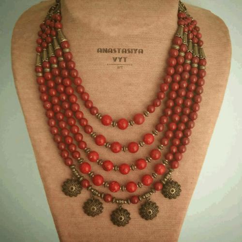 Ожерелье «Цветы папоротника» - изображение 1