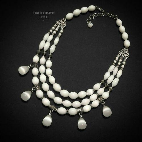 Ожерелье «Белый дождь»