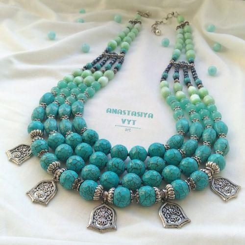 Ожерелье «Голубая свежесть»