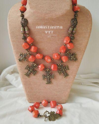 Ожерелье и браслет «Оранжевая згарда»
