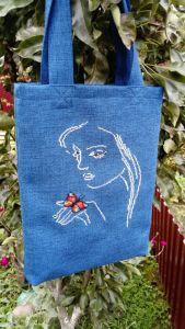 Еко сумка ручної роботи Вишита еко-торба