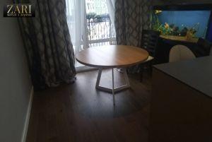 Меблі ручної роботи Стіл з дуба, діаметр 120см. ZR586
