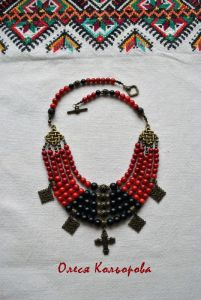 "Ожерелье ""Маки"""