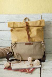 Рюкзак ручной работы Рюкзак Roll Top Veggie Zipper (желтый)