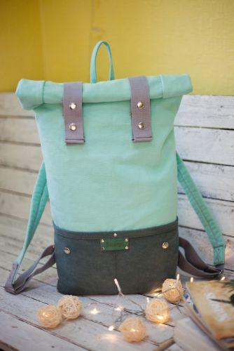 Рюкзак Roll Top Veggie (мятный) - изображение 1