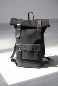 Рюкзак ручной работы Рюкзак Roll Top MAx (черный)
