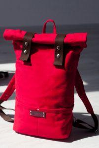 Рюкзак ручной работы Рюкзак Roll Top Veggie (красный)