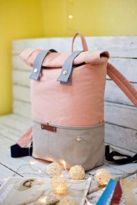 Рюкзак ручной работы Рюкзак Veggie (серый/розовый)