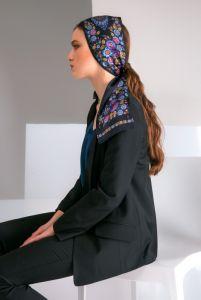 Модная женская одежда Черное твилли «Волшебные Жар-птицы»