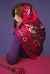 Одежда из льна Платок «Страстные объятия»