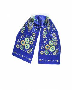 Платки Синяя шаль «Волшебные Жар-птицы»