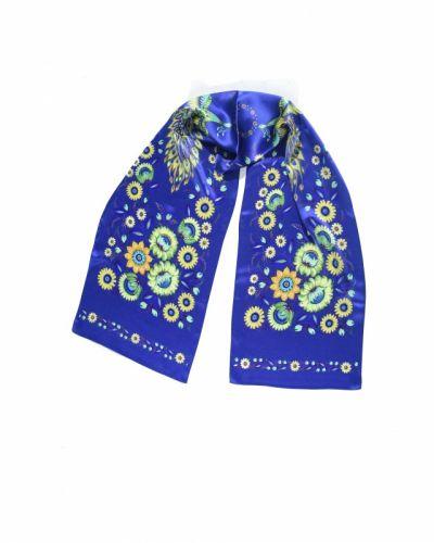 Синяя шаль «Волшебные Жар-птицы»