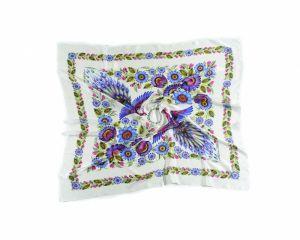 Разное Белый платок «Волшебные Жар-птицы»