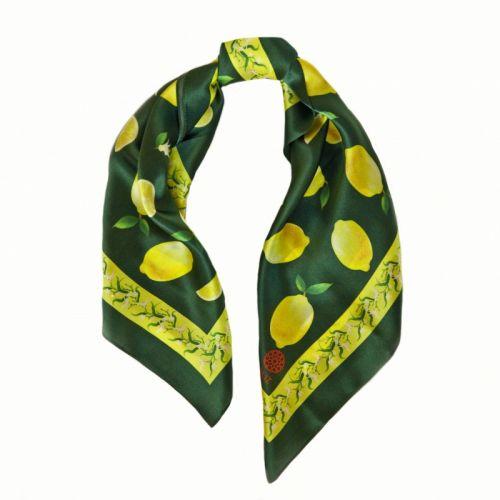 """Платок """"Лимонад в зеленом"""" 65*65 см - изображение 1"""