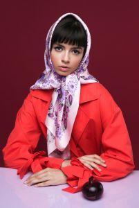 Одежда из льна Платок «Первая любовь»